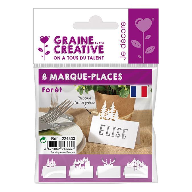 Marque places Thème forêt - 8 pcs