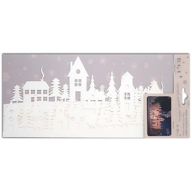Village de noël en papier 3 x 30 cm