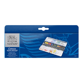 Aquarelle fine Cotman 12 demi-godets Boite Blue Box