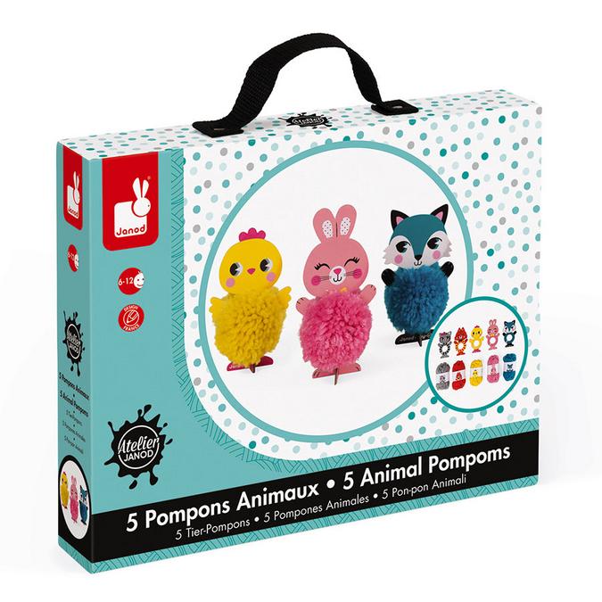 Coffret Pompons Animaux 5 modèles