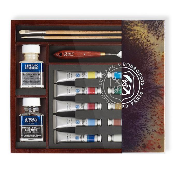 Peinture à l'huile extra-fine LB Coffret bois Impressionnistes 10 tubes