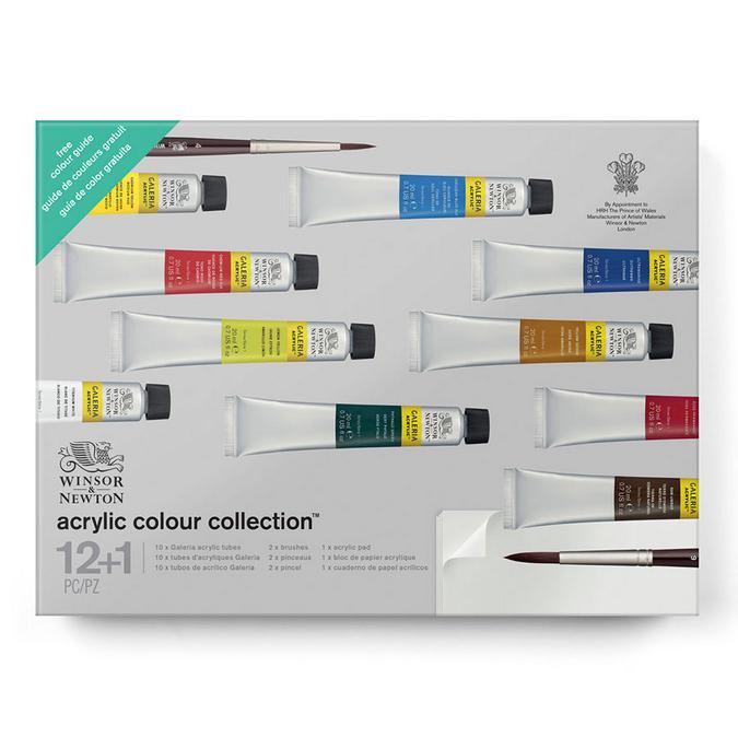 Acrylique Galeria Set collection 10 x 20 ml + outils et accessoires