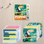 Cartes à compléter en stickers Tropical x 6