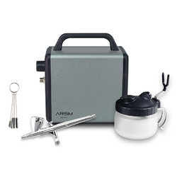 Kit aérographe Arism Mini compresseur + pistolet Max-3