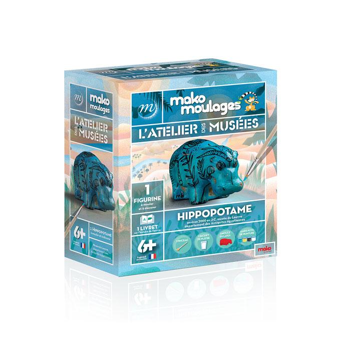 Atelier de moulage Hippopotame égyptien