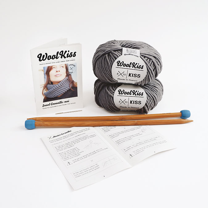 Kit de tricot Tour de cou Snood Emmaille-moi