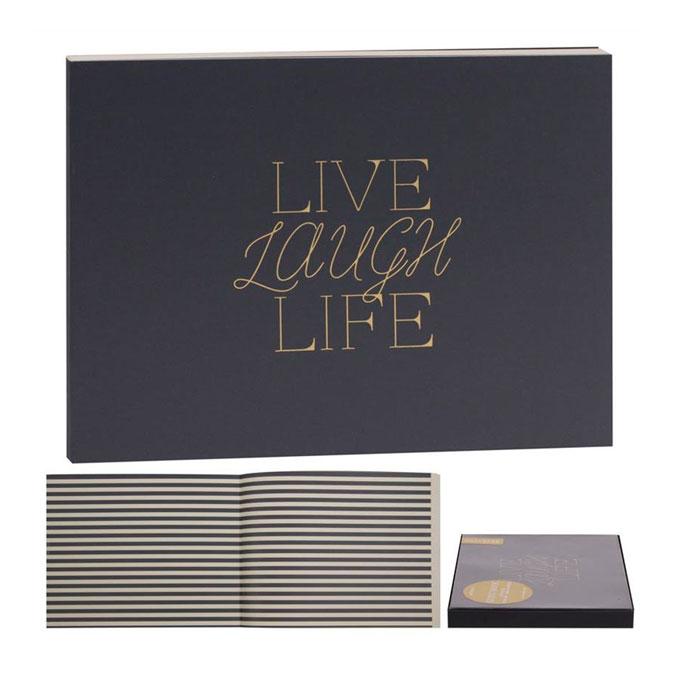 Livre d'or Noir 22,5 x 17,5 cm