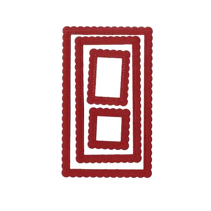 Matrice de découpe DIE Cadres rectangulaires festonnés