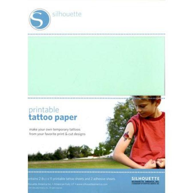 Papier pour tatouage éphémère 21.6 x 28 cm 2 pcs