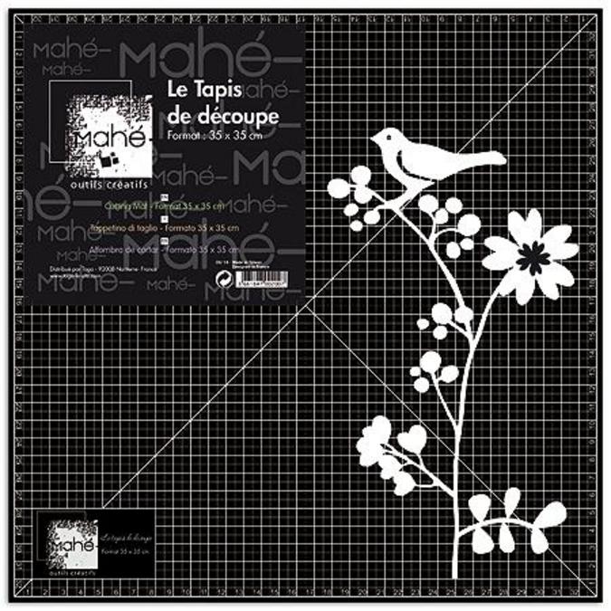 Tapis de coupe noir 35 x 35 cm