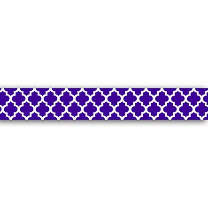 Ruban adhésif décoratif Motif Mauresque violet 1,5 x 10 m