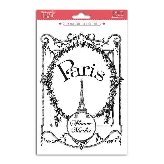 Transfert textile thermocollant Vintage Paris 15 x 21 cm