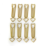 Maxi Trombones flèches Or 1,2 x 5,8 cm 8 pcs