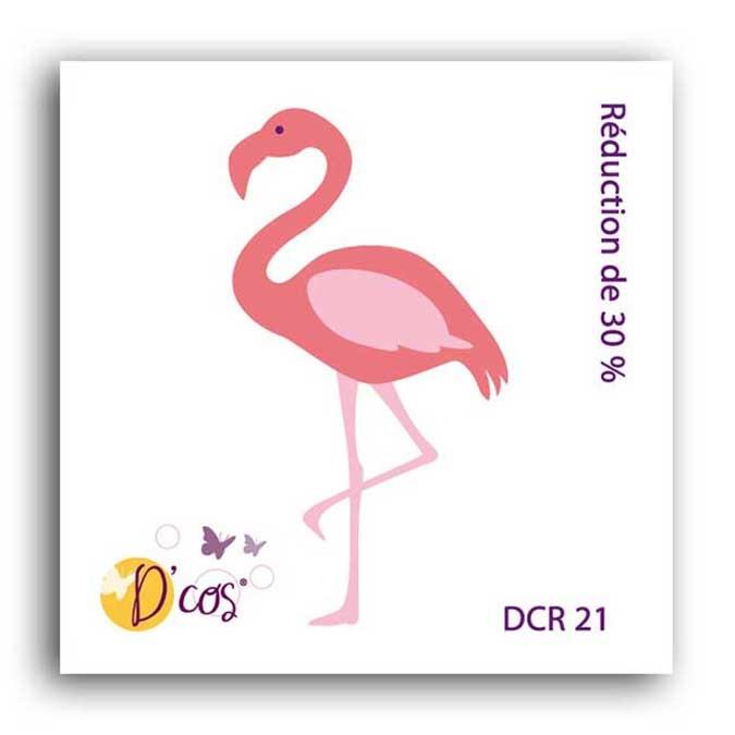 Forme de découpe die D'cos Flamant rose 3,5 x 5,6 cm