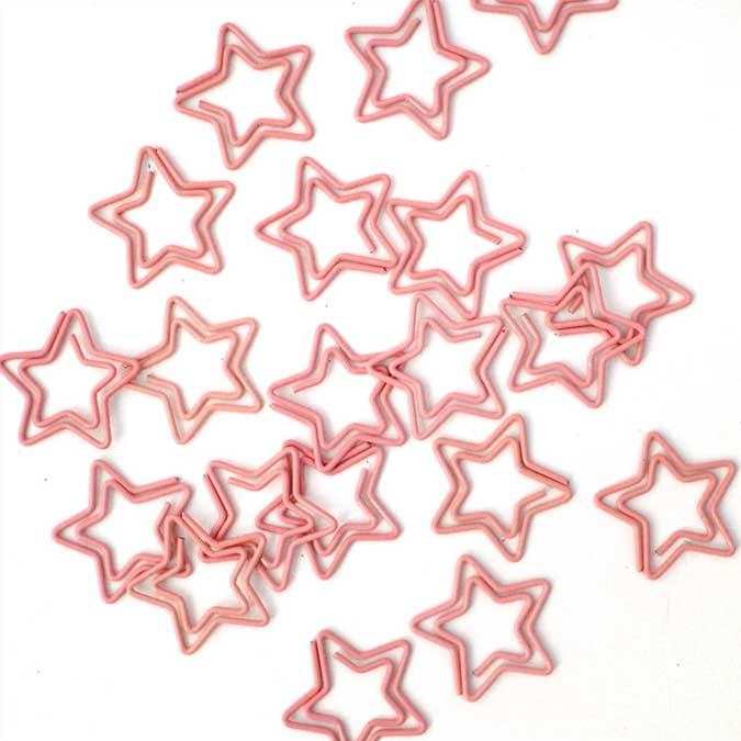 Trombone Étoiles corail 2,5 cm 20 pcs
