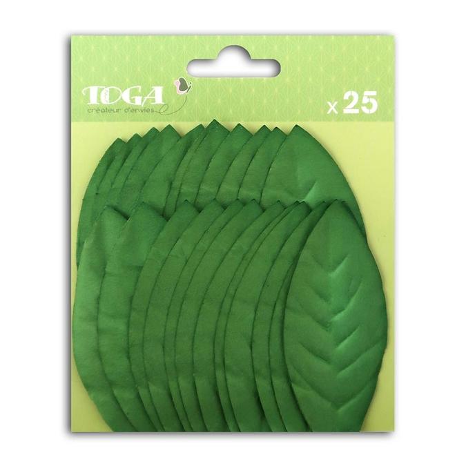 Feuille en papier vert foncé 25 pcs