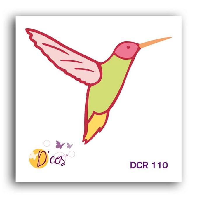 Forme de découpe die D'cos Oiseau tropical 4,5 x 3,6 cm