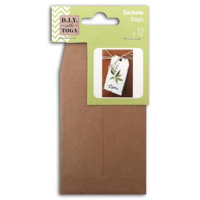 Sachet papier kraft 7 x 10 cm 12 pcs