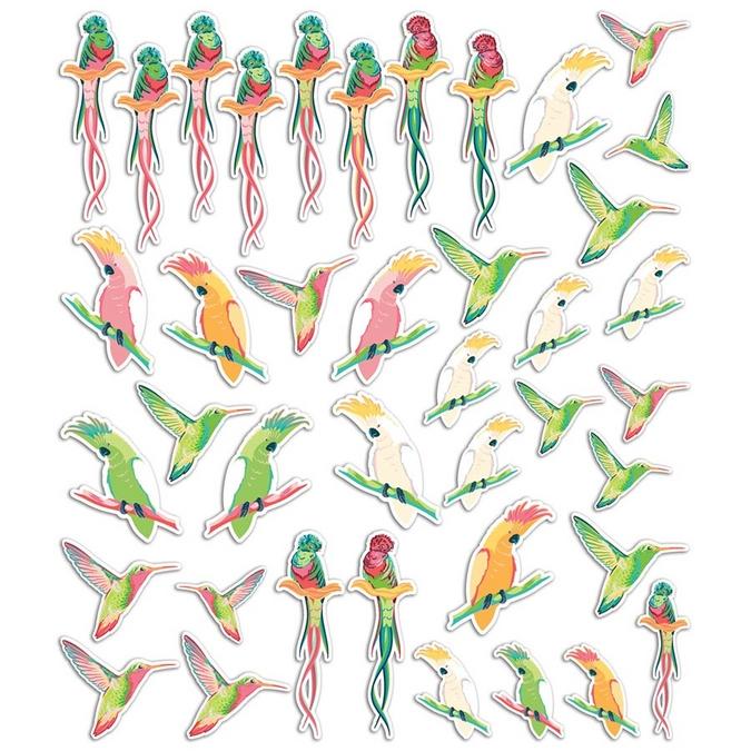 Formes en papier découpé Tropical Paradise 40 pcs