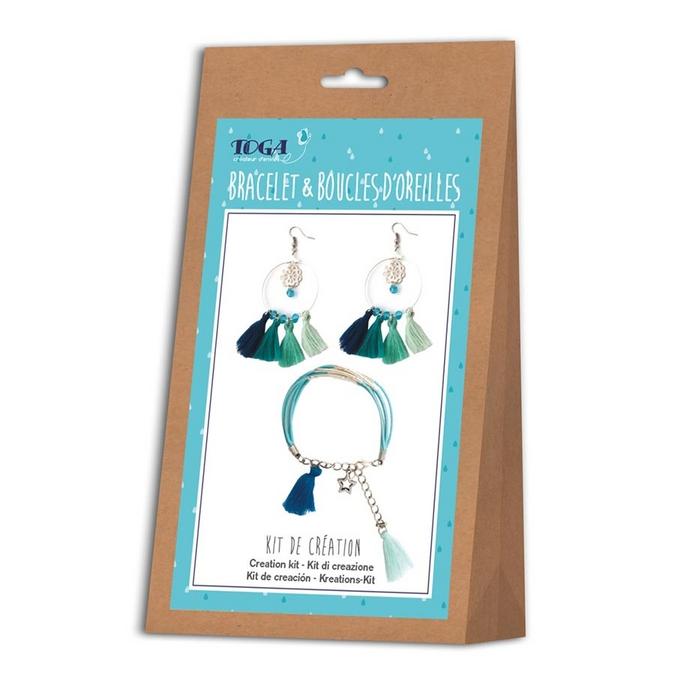 Kit bijoux Sautoir & Boucles d'oreilles Ice