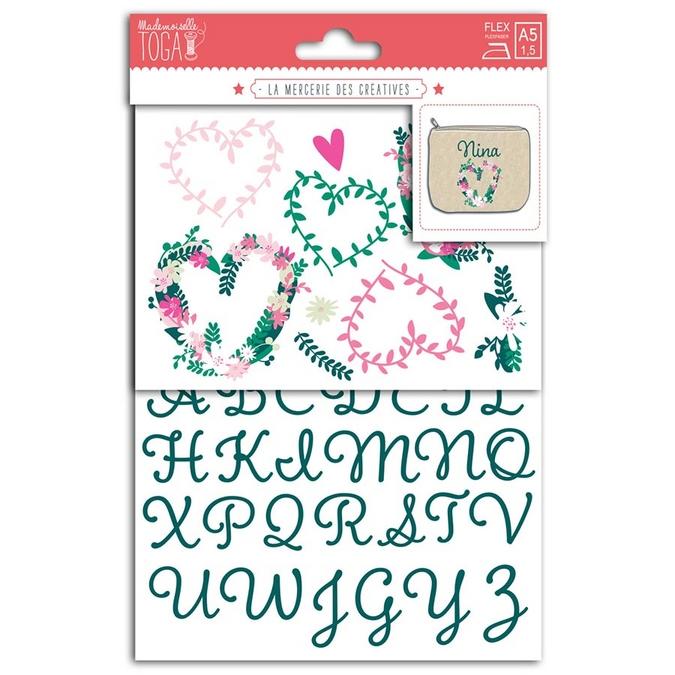 Formes thermocollantes Alphabet et caractères Vert