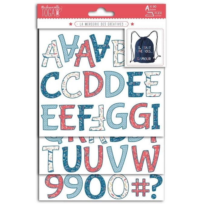 Formes thermocollantes Alphabet et caractères Hygge