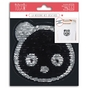 Écusson thermocollant Panda réversible en sequins 13 cm