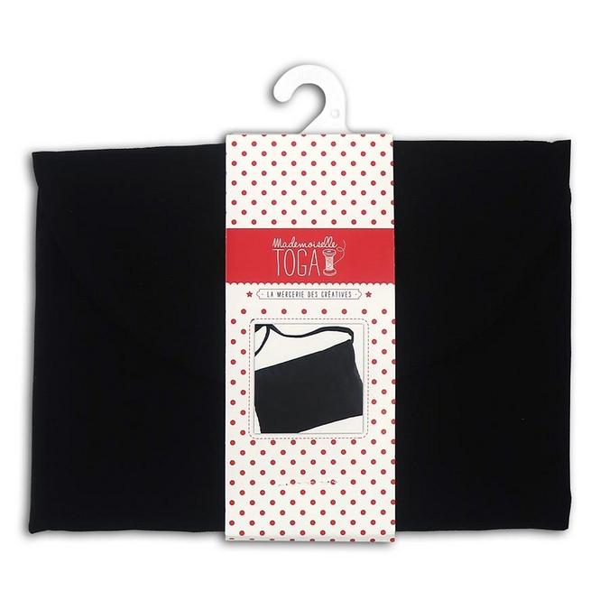 Pochette en bandoulière 100% Coton noir 26 x 17 cm