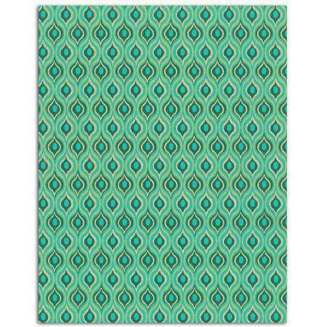 Papier L'or de Bombay Vert Turquoise 27,8 x 21,2 cm 6 feuilles