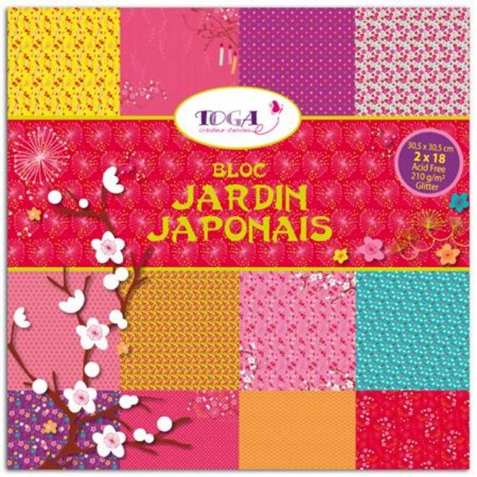 Papier Jardin japonais 36 feuilles 30,5 x 30,5 cm