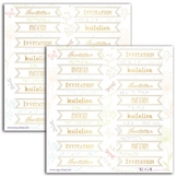 Autocollant Invitation or 32 pcs