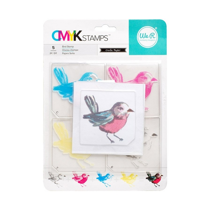 Tampon quadrichromie CMYK Oiseau