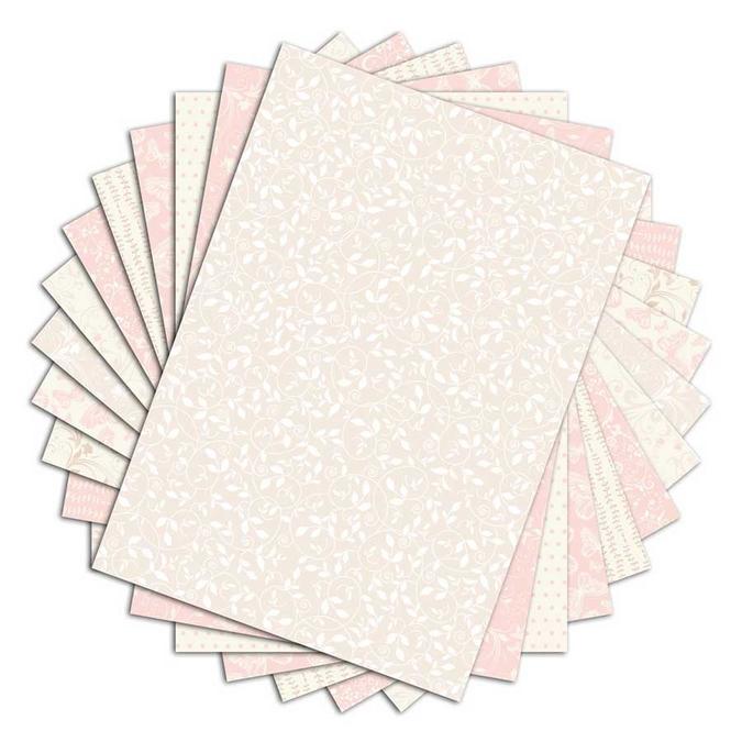 Bloc de papier imprimé Color Factory A4 Romantique 48 feuilles