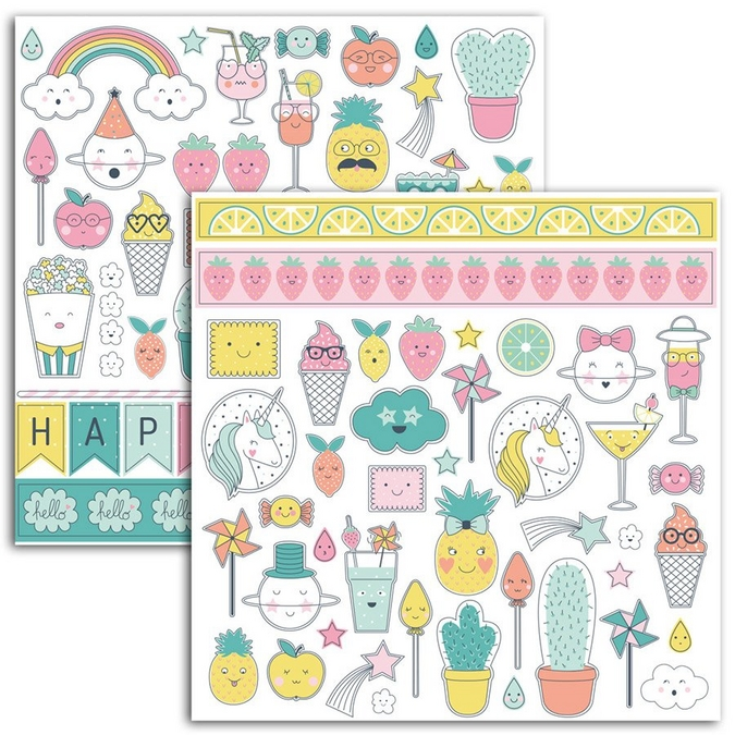 Autocollant Happy Days 98 pcs