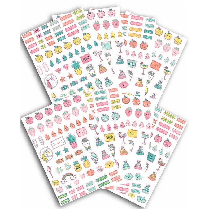 Autocollant d'organisation Happy Days 500 pcs