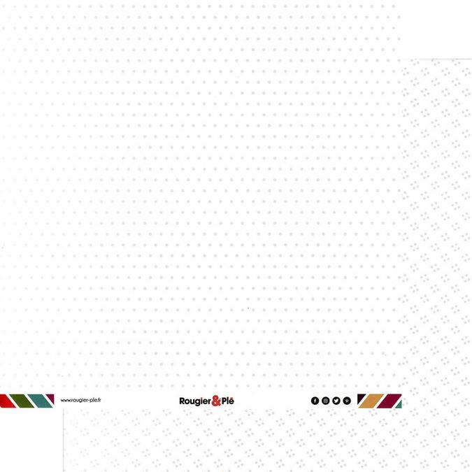 Papier scrapbooking 30,5 x 30,5 cm Blanc / Pois & Étoiles