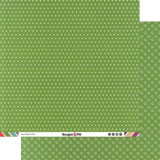 Papier scrapbooking 30,5 x 30,5 cm Prairie / Pois & Étoiles
