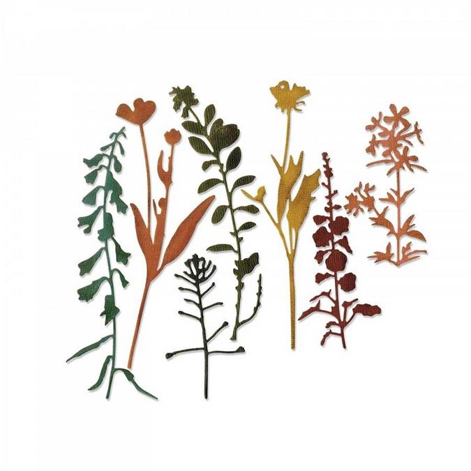 Matrice de découpe Thinlits Die Fleurs sauvages n°2 7 pcs