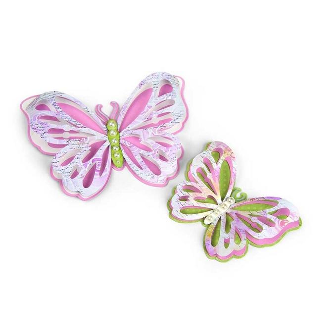 Matrice de découpe Thinlits Die Papillons ajourés 6 pcs