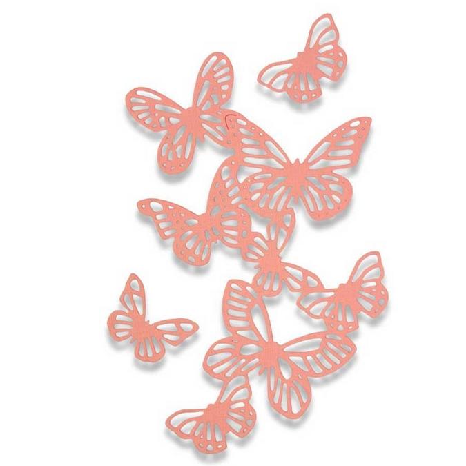 Matrice de découpe Thinlits Die Envolée de papillons 3 pcs