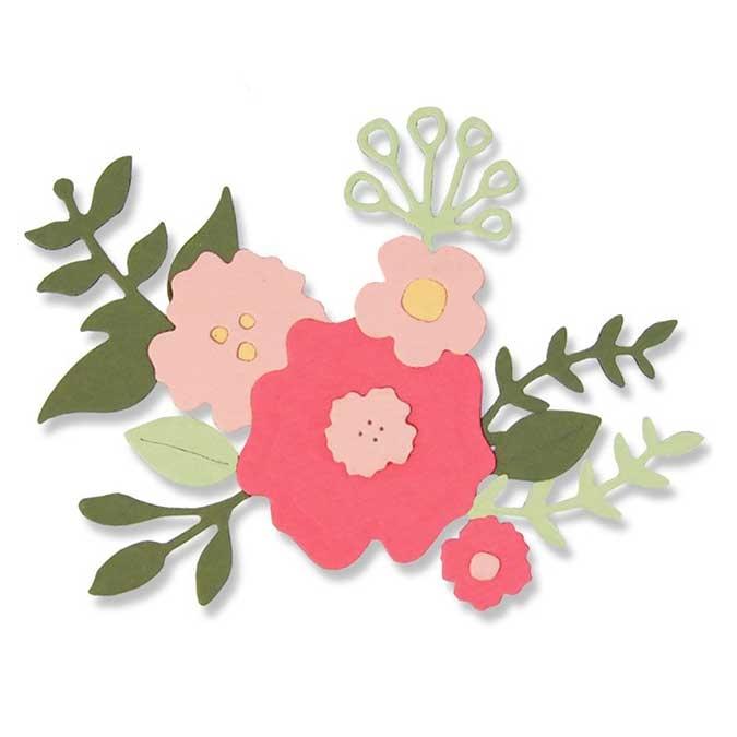 Matrice de découpe Thinlits Die Jolies fleurs 10 pcs