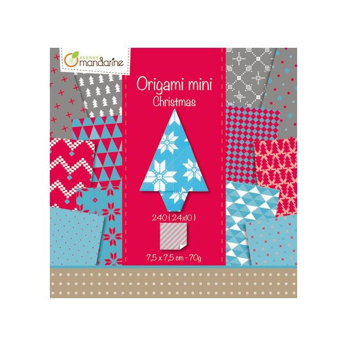 Papier origami 7,5 x 7,5 cm Thème Noël 240 feuilles