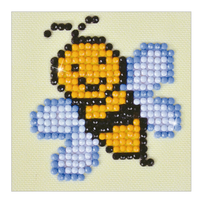 Broderie Diamant kit débutant Abeille Busy Buzz