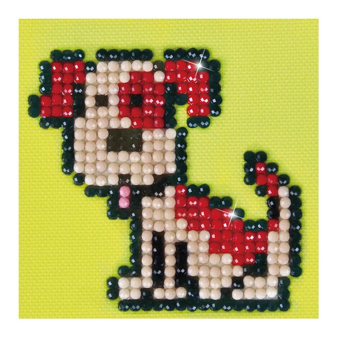 Broderie Diamant kit débutant Fido le chien