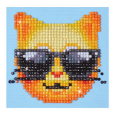 Broderie Diamant kit débutant Smiley chat
