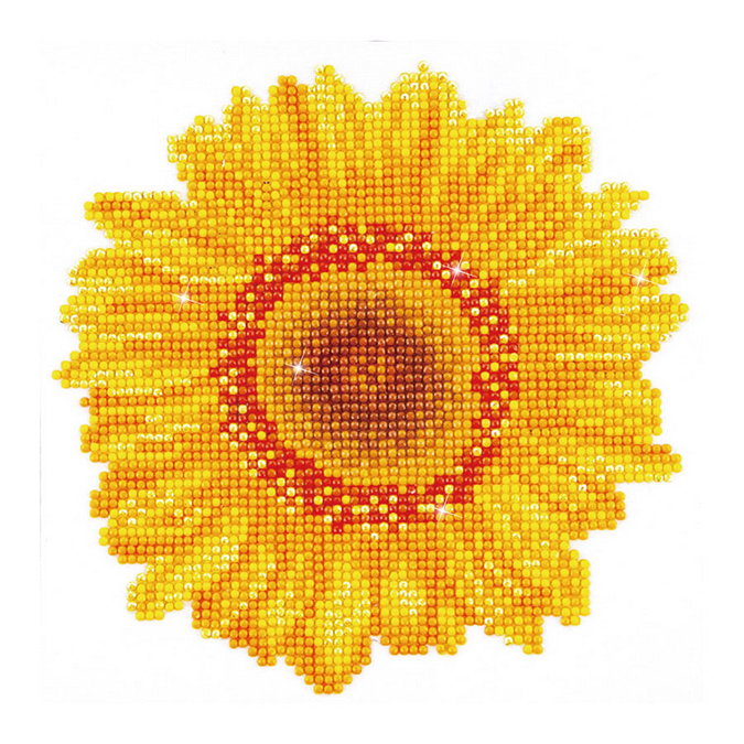 Broderie Diamant kit débutant Tournesol