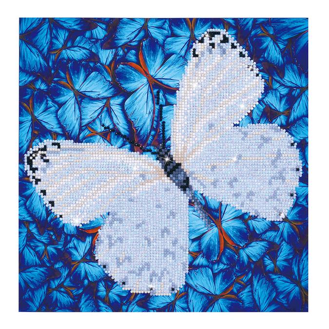 Broderie Diamant kit intermédiaire Papillon Blanc