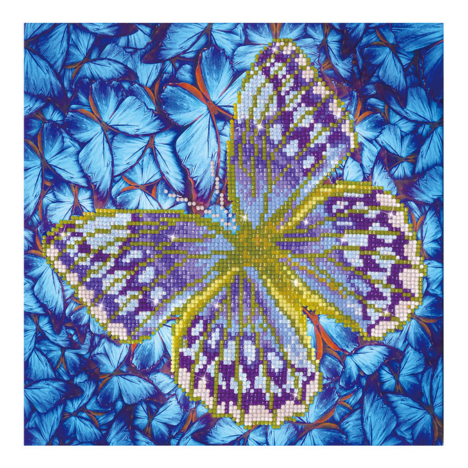 Broderie Diamant kit intermédiaire Papillon Argent