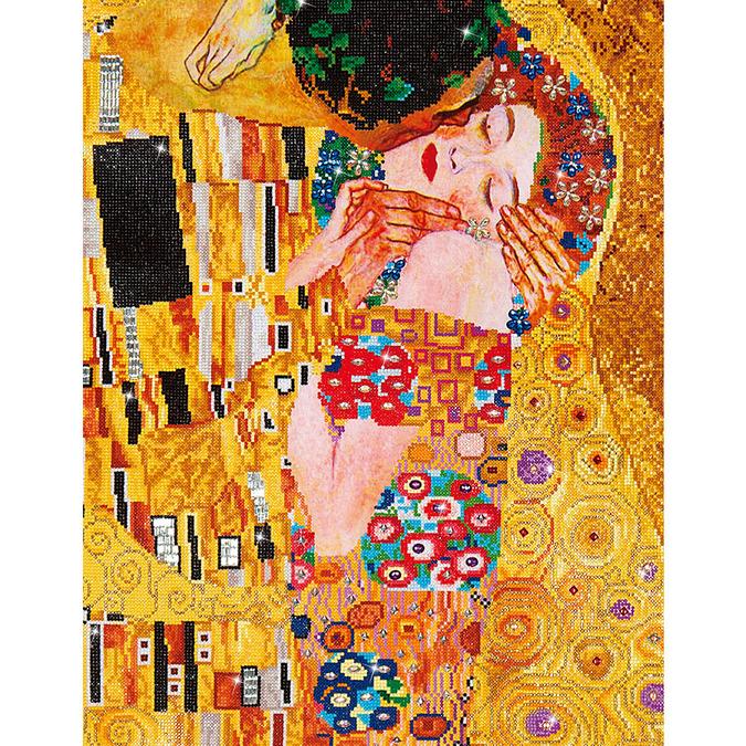 Broderie Diamant kit expert Le Baiser (Klimt)