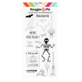 Tampons transparents thème Halloween 15 pcs